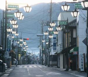 画像:上宿通りの朝
