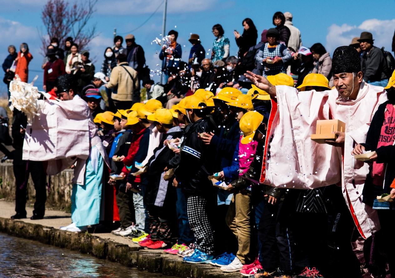『春の桜川フォトコンテスト 特別賞 祈りを込めて 真壁町』の画像