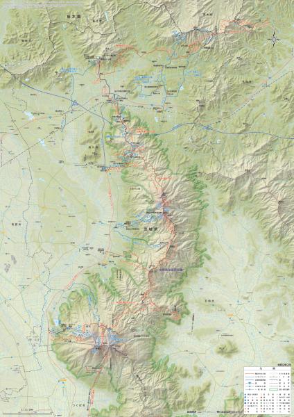 『桜川市ハイキングマップ(地図面)』の画像