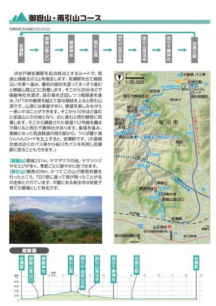 『御嶽山・雨引山コース』の画像