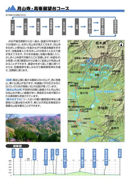 『ハイキングマップ【月山寺・高峯展望台コース】』の画像