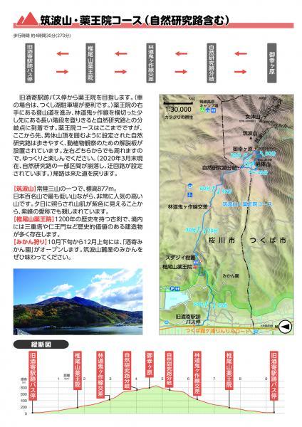 『ハイキングマップ【筑波山・薬王院コース(自然研究路含む)】』の画像