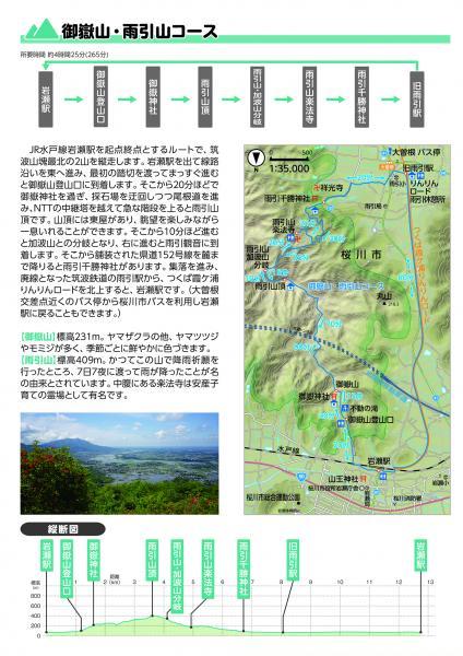 『ハイキングマップ【御嶽山・雨引山コース】』の画像