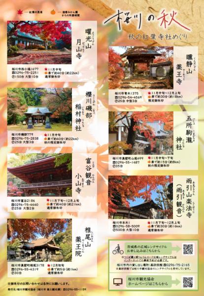 『桜川の秋・紅葉寺社めぐり』の画像
